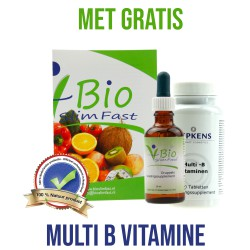 Bio Slim Fast Druppels 50ml plus  Multi-B vitamine 60 tabletten